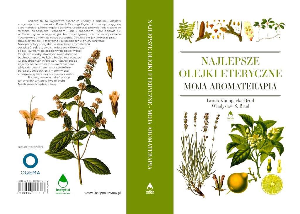 Oqema sponsorem wyjątkowej książki Najlepsze Olejki Eteryczne - Moja Aromaterapia.